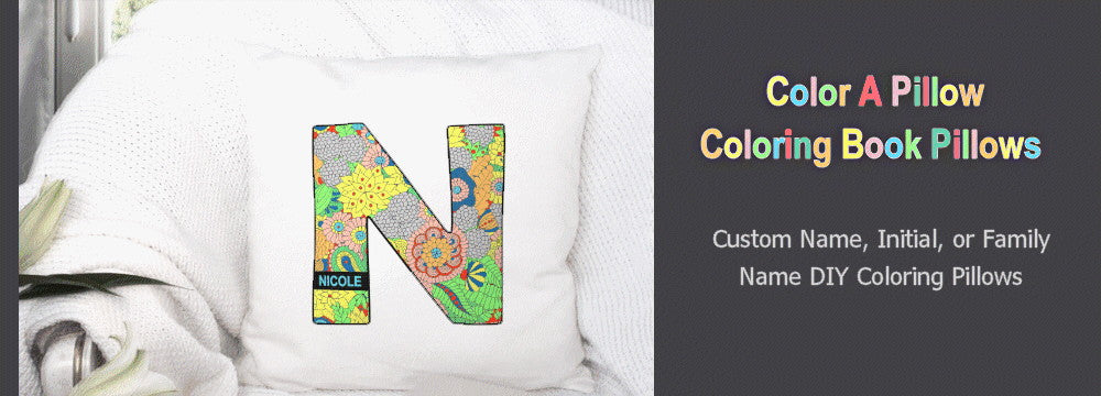 coloring book pillow