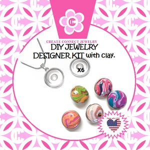 FEATURED: Holly Girl's Jewelry Kit with oven bake jewelry clay