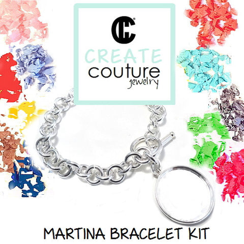 Martina Bracelet Kit DIY  Jewelry Clay Kit  or Photo Jewelry Kit