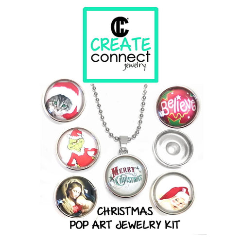 Snap Necklace Pop Art Jewelry Kit - Christmas Designs