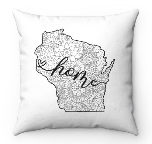 Color A Pillow Coloring Book Home State