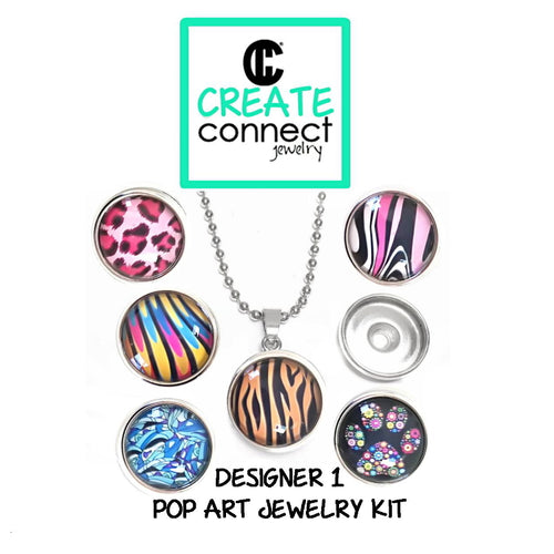 Snap Necklace Pop Art Jewelry Kit - Designer 1 series