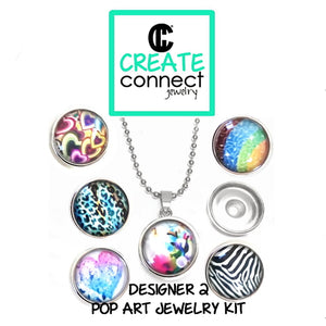 Snap Necklace Pop Art Jewelry Kit - Designer 2 series