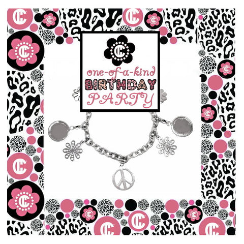 Flower Power Recycled Jewelry Birthday Party Kit