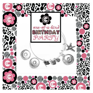 Alexia Snap Charm Bracelet Birthday Party DIY Jewelry Package for 10