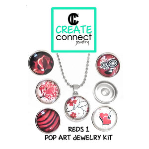 Snap Necklace Pop Art Jewelry Kit - Regal Reds