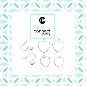 Hearts Interchangable Earring set DIY Jewelry Clay Kit