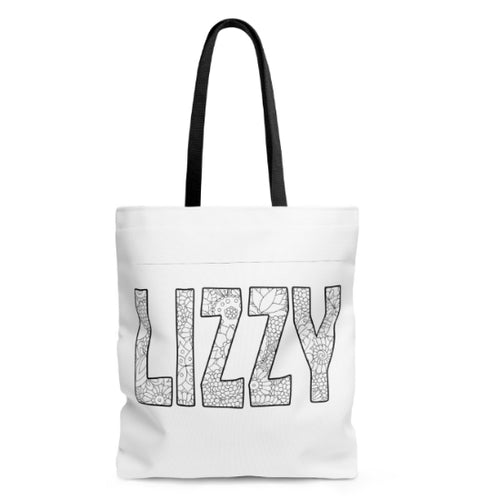 Coloring Book Tote Bag with your name