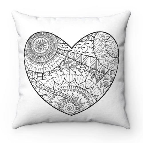 Color A Pillow Coloring Book Pillow Wild Heart
