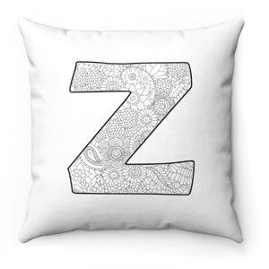 Color A Pillow Coloring Book Pillow INITAL
