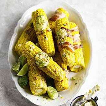 GRILLED CORN WITH JERK BUTTER