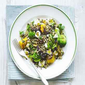 QUINOA, SQUASH & BROCCOLI SALAD