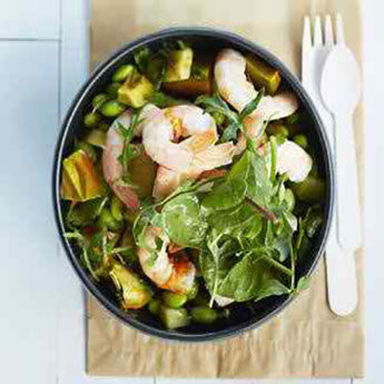 PRAWN, AVOCADO & SOYA BEAN SALAD