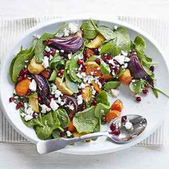 MOROCCAN POMEGRANATE & ROAST VEG SALAD