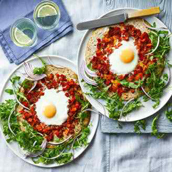 EGG & ROCKET PIZZAS
