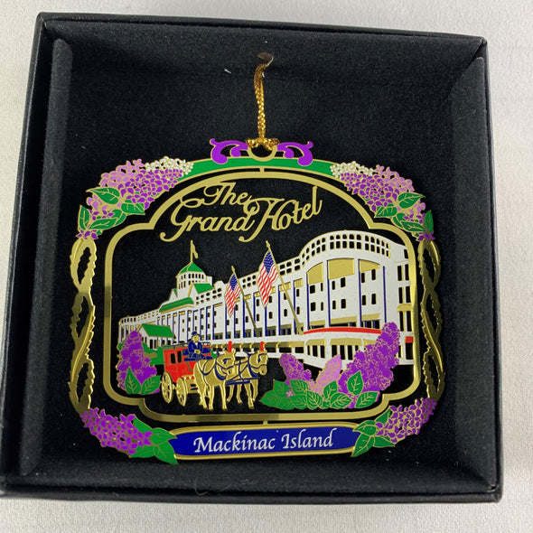 Brass Grand Hotel w/lilacs ornament