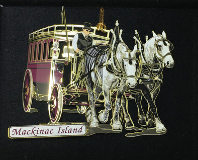 Brass/Painted Grand Hotel Bus Ornament