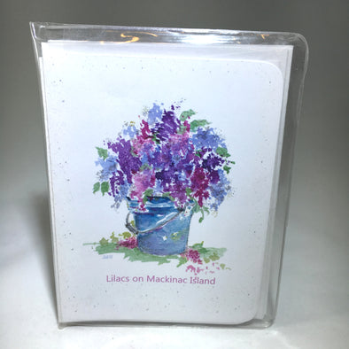 Note Cards - Lilac Bucket