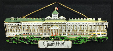 Brass Painted Long View Grand Hotel Ornament