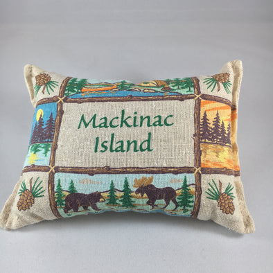 Up north Mackinac Island balsam pillow