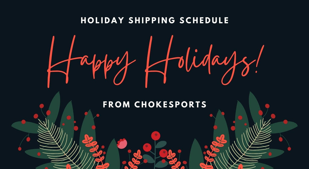 Winter Holiday & Shipping Schedule