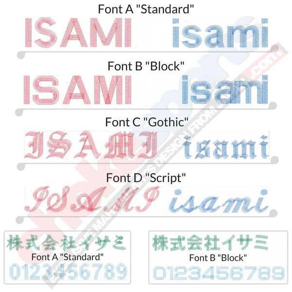 ChokeSports Isami Embroidery Fonts