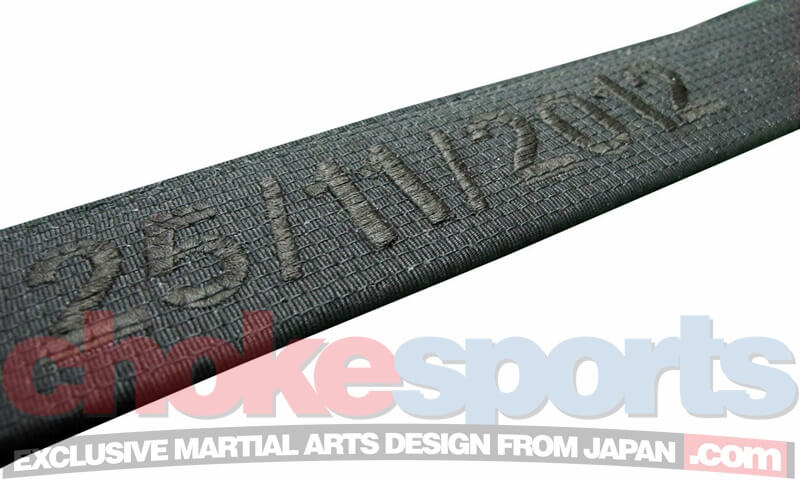 ChokeSports Isami Black Belt embroidery