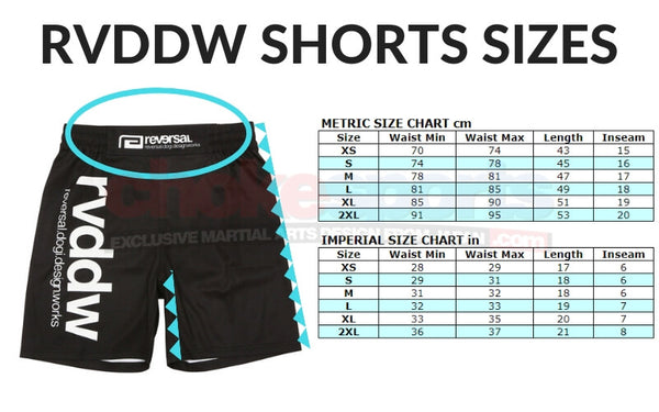 RVDDW Shorts Sizes