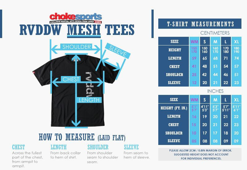 RVDDW Mesh Shirt Sizes