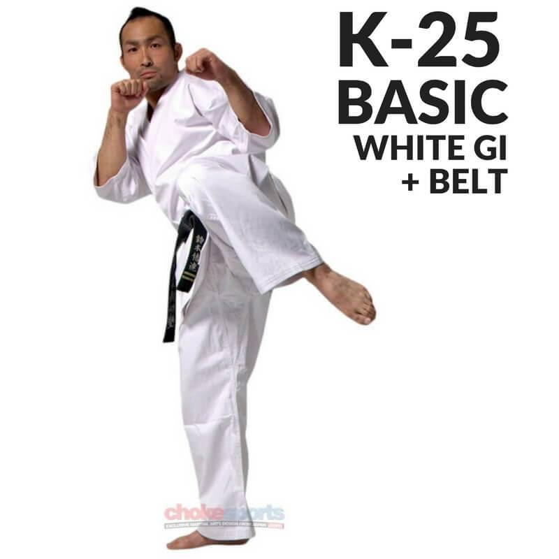 Karate Gi K-25 with Belt-Isami-ChokeSports