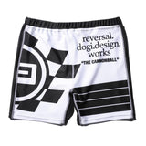 Race Flag Compression Shorts-Reversal RVDDW-ChokeSports