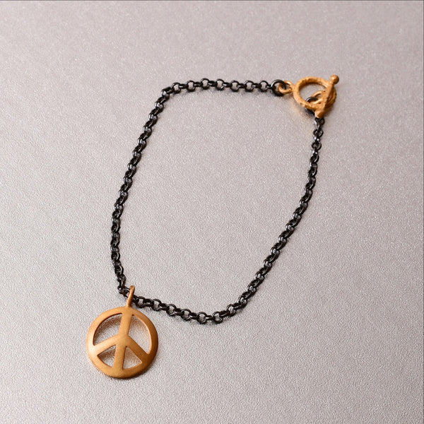 Shanti Bracelet With Peace Charm