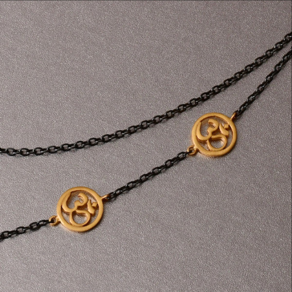 Om Necklace With Gold