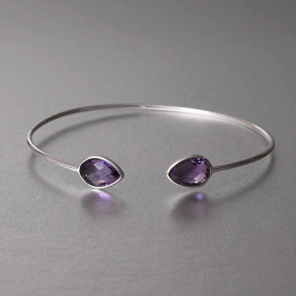 Soraya Cuff With Amethyst