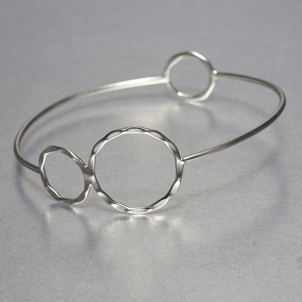 Dainty jewelry never goes out of style. Hand hammered  sterling silver Asa bracelet depicts flawless appeal of fine, boutique jewelry. Pair it with other hand hammered textured pieces and create a style of your own