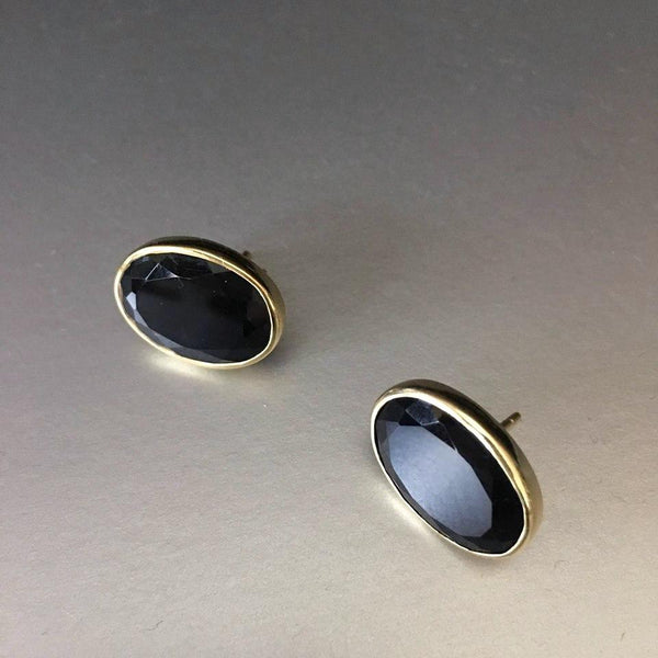 Leya Studs With Black Onyx