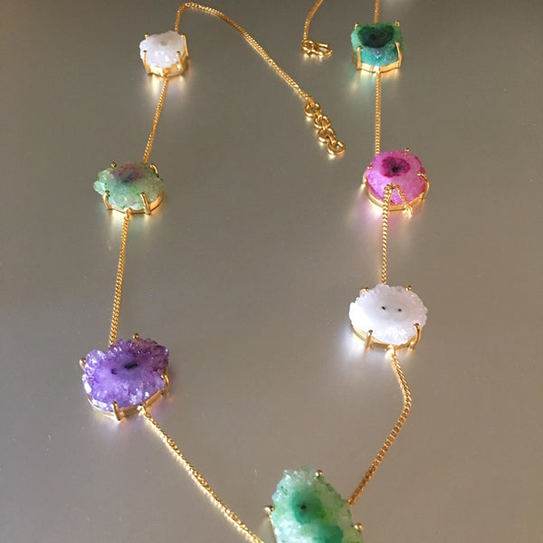 Sundar Necklace With Druzy