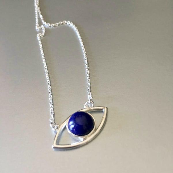 Nazar necklace is simply adorable. It's lightweight, dainty yet bold in appearance. Versatile enough to wear it with tees and jeans as well as work or evening clothes. Enhance with a stunning lapis lazuli gemstone