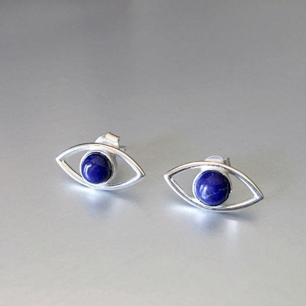 Sterling silver, lightweight studs with lapis lazuli gemstones are not only versatile to enhance any attire but comfortable to wear day in and day out.