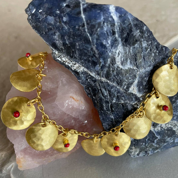 Anika Gold Bracelet With Corals