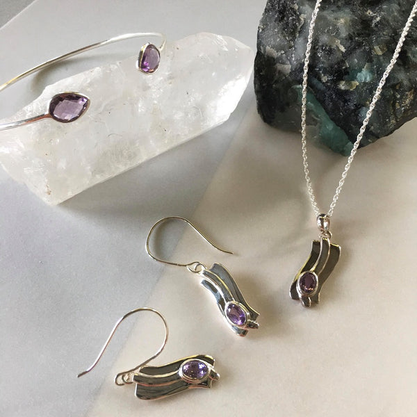 Ira Earrings With Amethyst