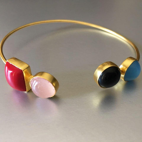 Vema Cuff With Gemstones