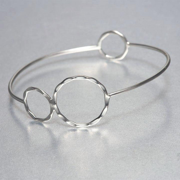 Hand hammered  sterling silver Asa bracelet depicts flawless appeal of fine, boutique jewelry