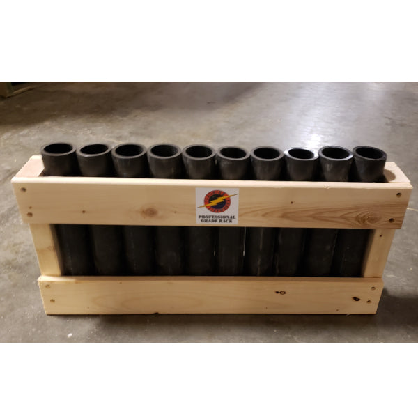 10 Tube Shooters Rack - BLACK HDPE