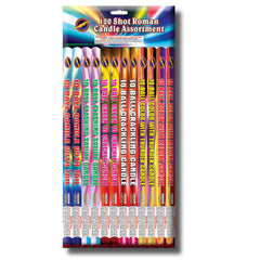 120 Shot Roman Candle Assortment