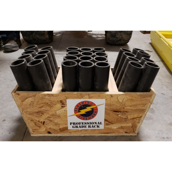 28 Tube Shooters Rack - BLACK HDPE
