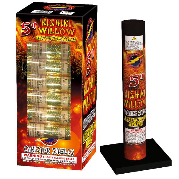 5 Inch Nishiki Willow Canister Shells by Flashing Fireworks