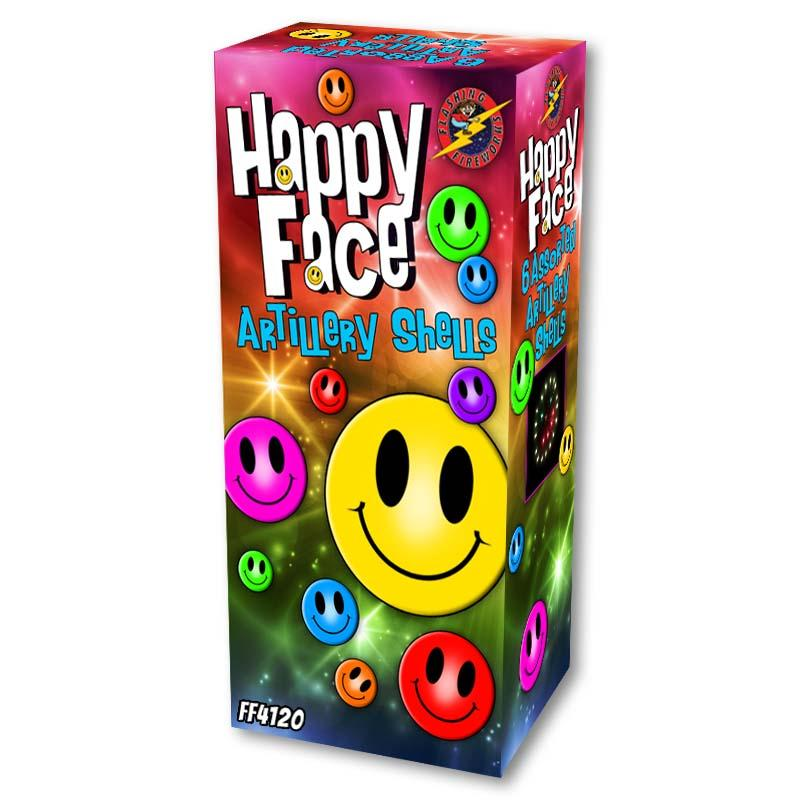 Happy Face Artillery Shells by Flashing Fireworks
