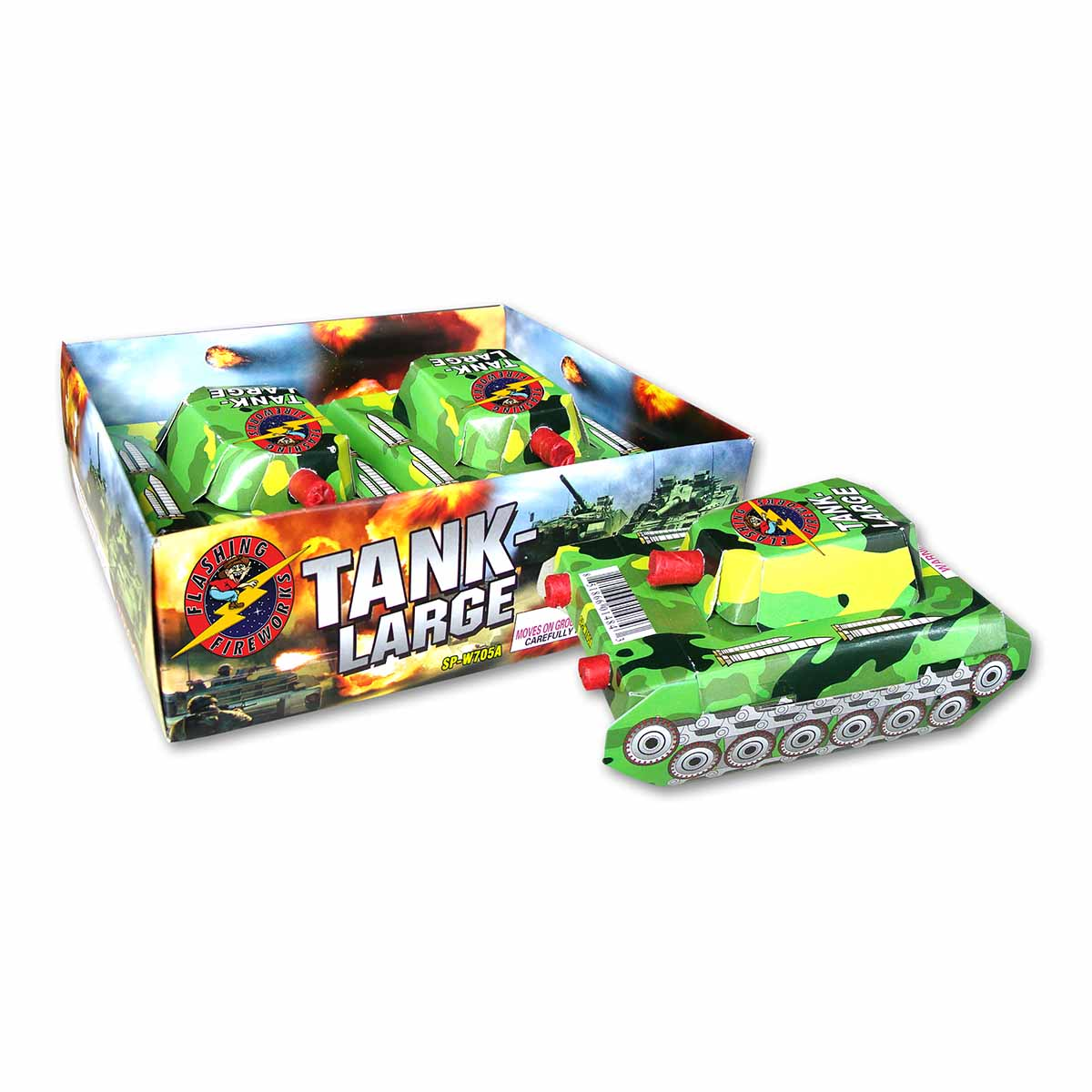 Large Tank by Flashing Fireworks