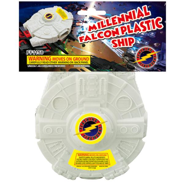 Millennial Falcon Plastic Ship by Flashing Fireworks